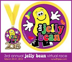 Going on now March 21-31, 2013: Run with Jess: 3rd annual Jelly Bean race