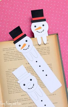 Snowman Bookmarks 40 Brilliant Diy Snowman Crafts Ideas For Amazing Winter Crafts Ideas For Kids And Adults Christmas Crafts Ideas For Kids Homemade Crafts Ideas Paper Plate Crafts For Kids, Winter Crafts For Kids, Crafts For Kids To Make, Christmas Activities, Craft Activities, Kids Christmas, Camping Activities, Bookmarks Kids, Bookmark Craft