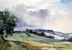 Plein Air Gallery - Original watercolours by Jem Bowden. This set of original watercolours are painted on location en plein air. Many are for sale. Watercolor Landscape Paintings, Watercolor Drawing, Abstract Landscape, Watercolor Pencils, Blue Abstract, Acrylic Painting Canvas, Encaustic Painting, Country Paintings, Beautiful Paintings