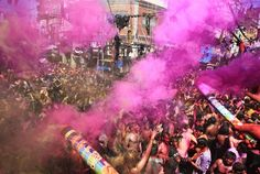 El fabuloso estallido de colores del festival Holi en la India