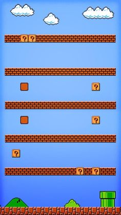 Super Mario iPhone shelf background!