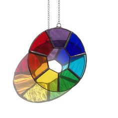 Chakra Suncatcher, stained glass looks gorgeous in the sun!