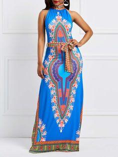 African Dresses For Women, African Attire, African Wear, Cute Dresses, Vintage Dresses, Fashion Sewing, Women's Fashion, Batik Dress, Halter Maxi Dresses