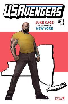 Avengers Luke Cage: Avenger of New York Variant - Rod Reis Marvel Vs, Marvel Comics, Marvel Heroes, Charles Xavier, Luke Cage, Mike Deodato, Psylocke, Marvel Universe, Jack Of Hearts