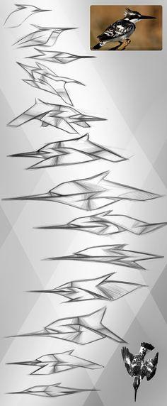Pied Kingfisher Speed-form on Behance Form Design, Shape Design, Speed Form, Architecture Concept Drawings, Industrial Design Sketch, Car Design Sketch, Concept Diagram, Transportation Design, Kingfisher