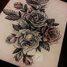 #tattoo #tattoosketch #tattooflash #illustration #art #black #blackwork #flowers #rose
