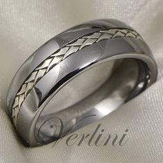 Tungsten Ring Silver Inlay Men's Wedding Band Titanium Color Size 6 13 | eBay
