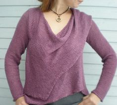 Knitting Pattern Wrap Over Cardigan : 1000+ images about knitting free patterns on Pinterest Pattern library, Fre...