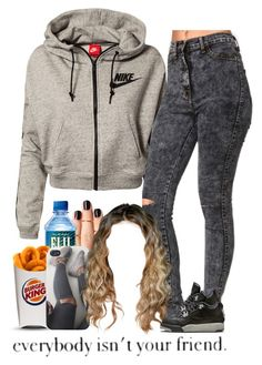 """9-4-15"" by asilversmile ❤ liked on Polyvore featuring NIKE and KING"
