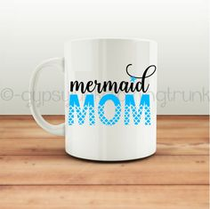 Mermaid Mom Coffee Mug  Mermiad Coffee Mug  Beach Coffee Mug