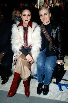 Olivia Palermo and Stylist Maria Grazia Chiuri attend the Giambattista Valli show as part of the Paris Fashion Week Womenswear Fall/Winter 2018/2019...