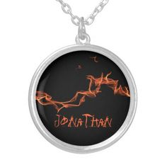 Flames Custom Personalized Necklace