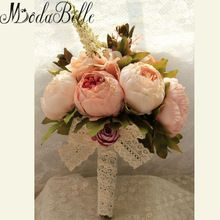 2016 New Bridal Bouquet Wedding Artificial Flowers Bouquet For Bridesmaids Pink Cheap Gros Bouquets De Mariage(China (Mainland))