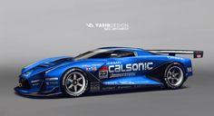 Nissan GT 2020 Calsonic, Yasid Oozeear on ArtStation at https://www.artstation.com/artwork/nissan-gt-2020-calsonic