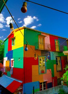 La Boca - Buenos Aires - Argentina- How could you not smile if you came home to… World Of Color, Color Of Life, Argentine Buenos Aires, Places Around The World, Around The Worlds, Beautiful World, Beautiful Places, Equador, Colourful Buildings