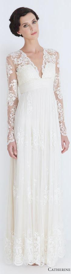 Catherine Deane wedding dresses 2012 - lia long sleeve lace bridal gown