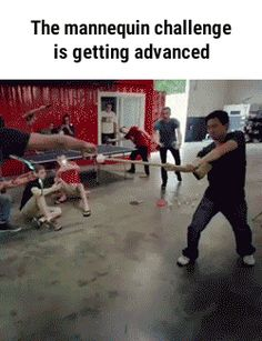 The mannequin challenge is getting advanced GIF
