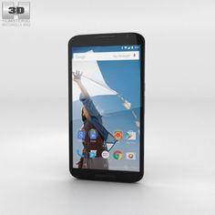 Motorola Nexus 6 Midnight Blue 3D Model .max .c4d .obj .3ds .fbx .lwo .stl…
