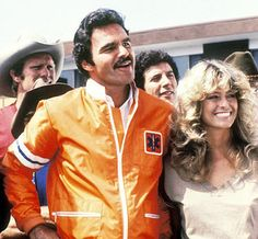 Burt Reynolds and Farrah Fawcett