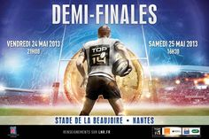 Affiche officielle DEMI-FINALES #Top14 à Nantes