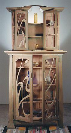 Contemporary Art Nouveau Cabinet:Furniture Studio - http://pinterest.com/source/wood-yeah.tumblr.com/