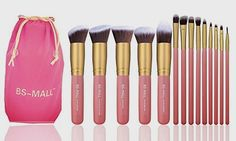 BS-MALL New 14 Pcs Makeup Brushes Premium Synthetic Kabuki Makeup Brush Set Cosmetics Foundation Blending Blush Eyeliner Face Powder Brush Makeup Brush Kit(golden Pink) BUY NOW     $35.99    5 Pieces Basic Big Kabuki Makeup Brushes and 9 Pieces precise eye makeup brushes SOFT and SILKY to the touch, the brushes are  ..  http://www.beautyandluxuryforu.top/2017/03/28/bs-mall-new-14-pcs-makeup-brushes-premium-synthetic-kabuki-makeup-brush-set-cosmetics-foundation-blending-blush-ey..