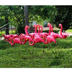 39a3843baba5f8 DHPE Flamingo Decor Plastic Lawn Figurine Home Garden Party Wedding  Decoration   Home & Garden,