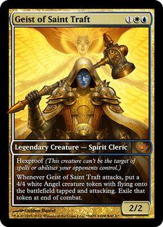 geist of saint traft Cube Image, Mtg Decks, Mtg Altered Art, Fun Card Games, Mtg Art, Fantasy Life, Legendary Creature, Magic The Gathering Cards, Alternative Art