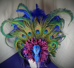 Devi Heathen Headdress #DEHD35 #headdress #featherheaddress #festivalheaddress #tribalheaddress