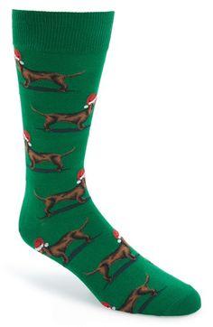 HOT SOX 'Christmas Dog' Socks available at #Nordstrom