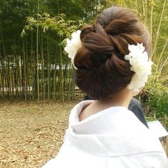 やわらか~い♡ #和装前撮り  #ウエディング #白無垢  #ドライフラワー  #アジサイ  #京都前撮り  #オーダーメイドヘアアクセサリー
