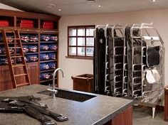 SeBo tack room with horse rug racks