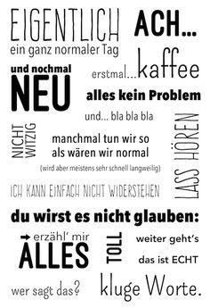 """Das Klartext Stempelset """"eigentlich"""" von www.danipeuss.de"""