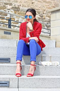 FashionHippieLoves: outfit: red and blue
