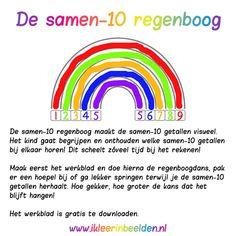 De samen 10 regenboog (Met dank aan www.ikleerinbeelden.nl!)