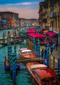 Gondolas, Venice, Italy photo via taryn