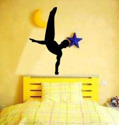 Amazon.com - Large--Easy instant decoration wall sticker wall mural Gym-gymnastics boy Gymnastics Room, Gymnastics Party, Wall Decal Sticker, Wall Stickers, Wall Murals, Wall Art, Wall Decor Design, Boy Art, Interior Design Inspiration