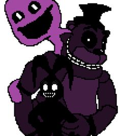 'Like Shadows' (Quick pixel art for the FNaF 2 anniversary.) http://i.imgur.com/hgBSTVi.png