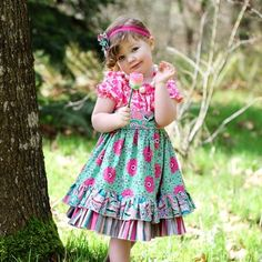 Elena's Twirly Peasant Dress by Create Kids Couture PDF Sewing Pattern