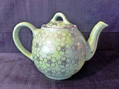 Antique Teapot Ceramic Teapot Japanese Teapot by GramsAntiques,