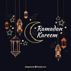 Ramadan Kareem or Eid mubarak greeting card islamic vector design - Buy this stock vector and explore similar vectors at Adobe Stock Eid Mubarak Banner, Eid Mubarak Greeting Cards, Eid Mubarak Greetings, Eid Cards, Ramadan Mubarak, Ramzan Video, Poster Ramadhan, Wallpaper Ramadhan, Google Play Codes