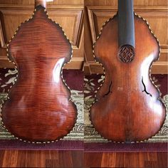 A beautiful 1996 6-string bass #gamba made by my parents in for some TLC. Tailgut finally snapped. #violins #luthier