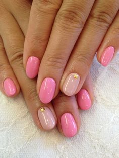 Pink nails, love the shape
