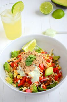 High Protein low fat Taco Salad