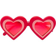 Red heart tinted sunglasses from Yazbukey featuring oversized frames, tinted lenses and a heart shaped frame. This item comes with a protective case. Heart Shaped Glasses, Heart Glasses, Heart Shaped Frame, Overlays, Red Sunglasses, Trending Sunglasses, Vintage Sunglasses, Heart Shapes, Life Plan