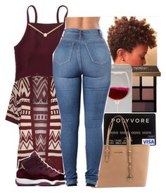 """""""."""" by renipooh ❤ liked on Polyvore featuring Bobbi Brown Cosmetics, Wet Seal, Aéropostale, Michael Kors, WearAll and Dogeared"""
