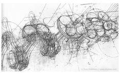 Automotive Illustration of a Ferrari Engine Working Drawings by Tony Matthews Drawing Artist, Drawing Sketches, Cool Drawings, Sketching, Engine Working, Design Presentation, Working Drawing, Illustrators, Concept Art