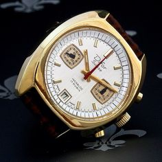 Proessionally Restored DIFOR Swiss Vintage Chronograph Watch Valjoux Cal. 7734