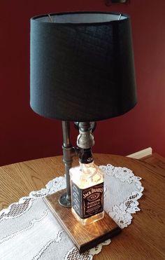 Jack Daniels under presure lamp/ night light.  Steampunk style