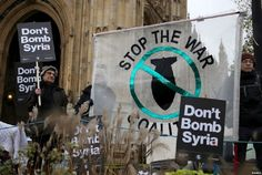Don't Bomb Syria : Anti-war protesters demonstrate